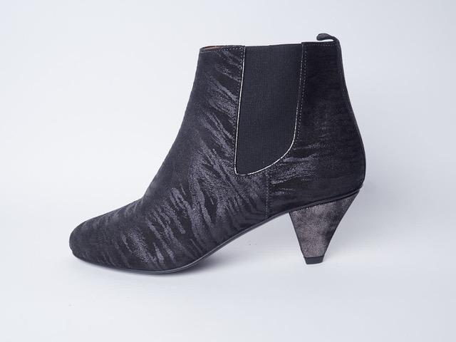 chaussure créateur zebré cuir